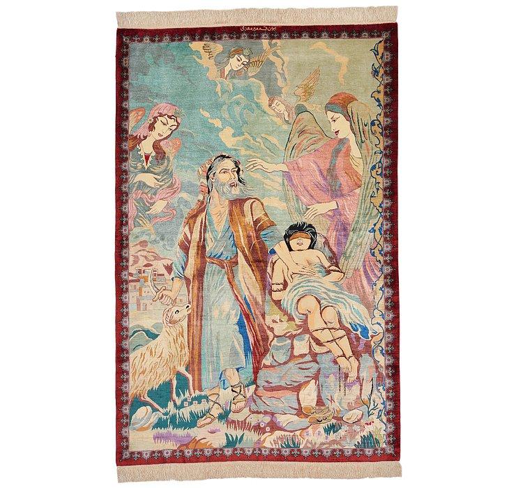 97cm x 147cm Qom Persian Rug