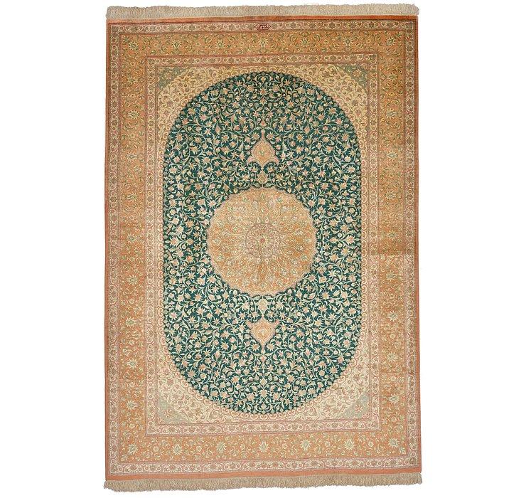 4' 7 x 6' 8 Qom Persian Rug
