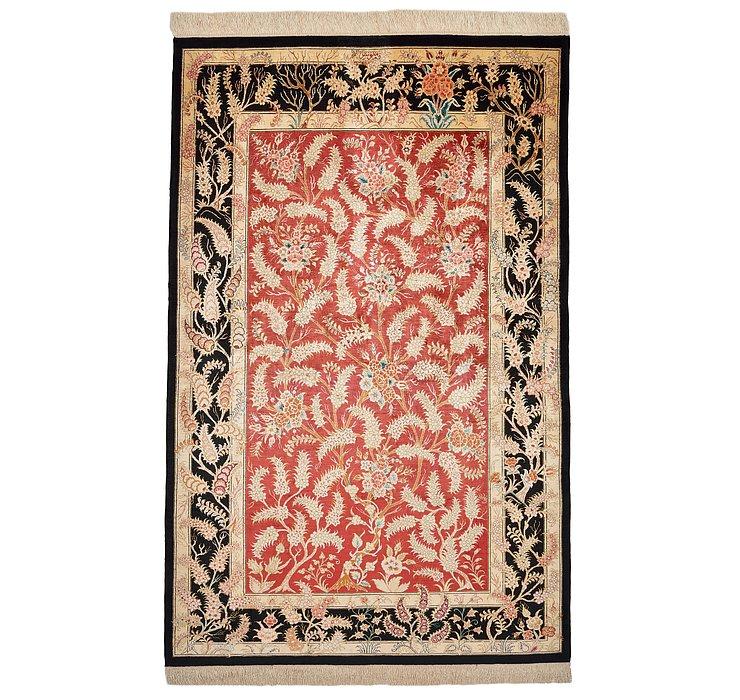 4' 3 x 6' 6 Qom Persian Rug
