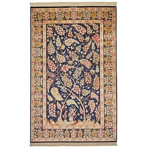 4' 3 x 6' 8 Qom Persian Rug
