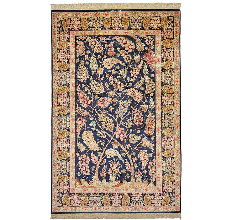 130cm x 203cm Qom Persian Rug