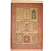 Link to 3' 5 x 4' 10 Qom Persian Rug