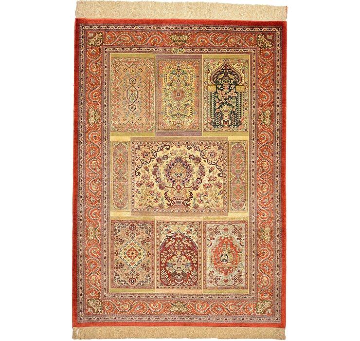 105cm x 147cm Qom Persian Rug
