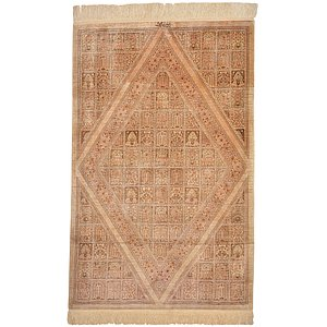 HandKnotted 3' 3 x 5' 2 Qom Persian Rug