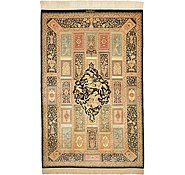 Link to 3' 6 x 5' 3 Qom Persian Rug