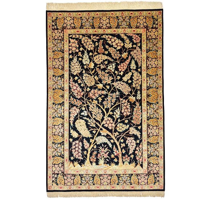 4' 4 x 6' 8 Qom Persian Rug