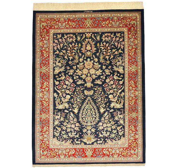 4' 6 x 6' 2 Qom Persian Rug