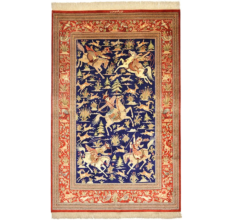 127cm x 198cm Qom Persian Rug