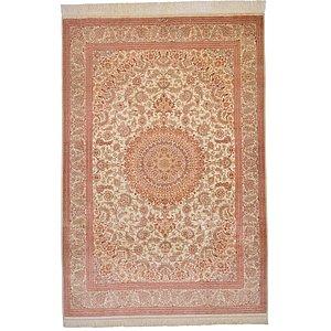 4' 5 x 6' 7 Qom Persian Rug