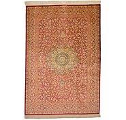 Link to 4' 5 x 6' 4 Qom Persian Rug