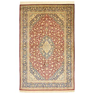 5' 1 x 8' Qom Persian Rug