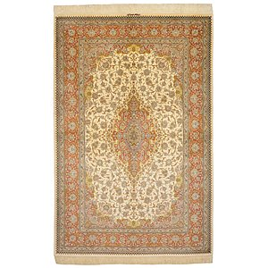 HandKnotted 5' 2 x 7' 9 Qom Persian Rug