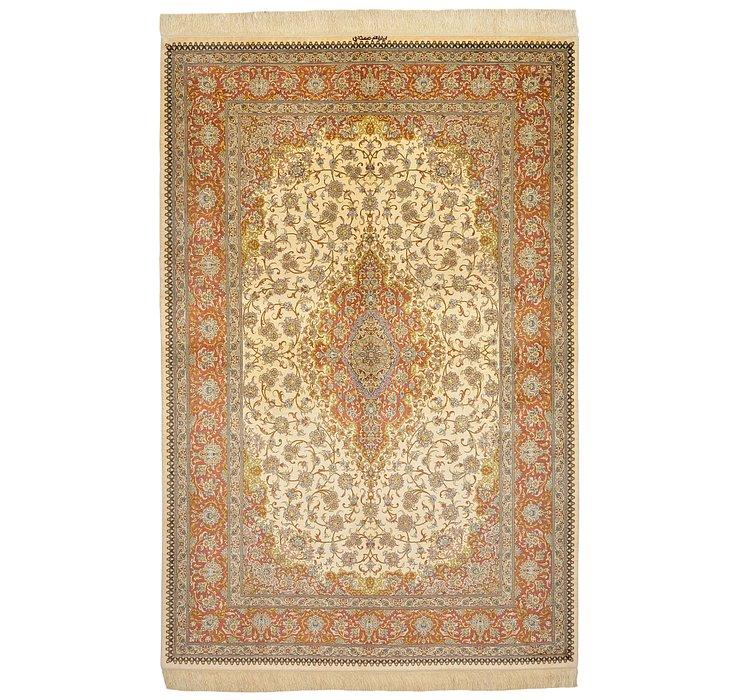 5' 2 x 7' 9 Qom Persian Rug