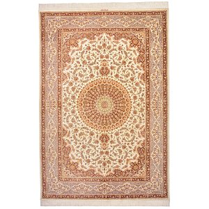 5' 2 x 7' 8 Qom Persian Rug