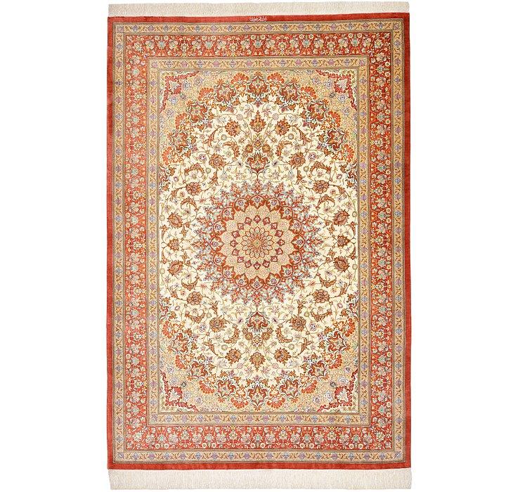5' 1 x 7' 9 Qom Persian Rug