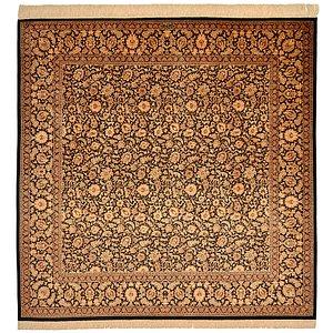 6' 6 x 6' 6 Qom Persian Square Rug
