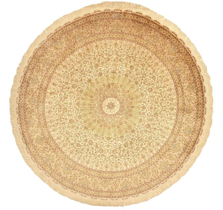 200cm x 200cm Qom Persian Round Rug