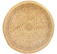 Link to 6' 7 x 6' 7 Qom Persian Round Rug