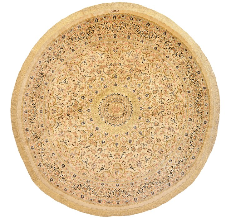 6' 7 x 6' 7 Qom Persian Round Rug