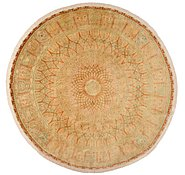 Link to 6' 5 x 6' 5 Qom Persian Round Rug