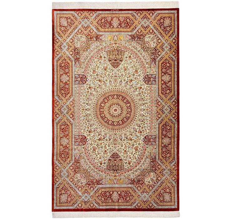 5' 1 x 8' 1 Qom Persian Rug