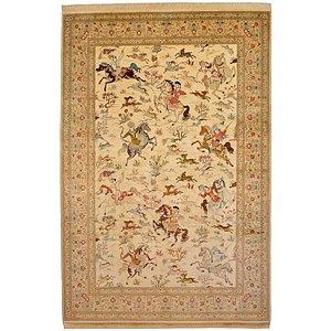 6' 6 x 9' 10 Qom Persian Rug