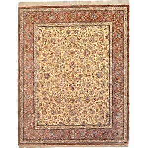 6' 6 x 8' 1 Qom Persian Rug