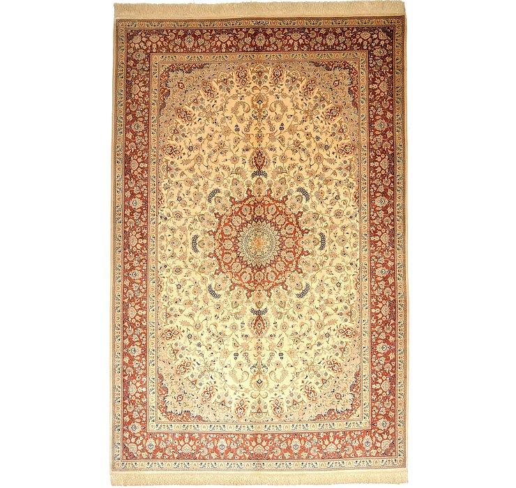 195cm x 302cm Qom Persian Rug