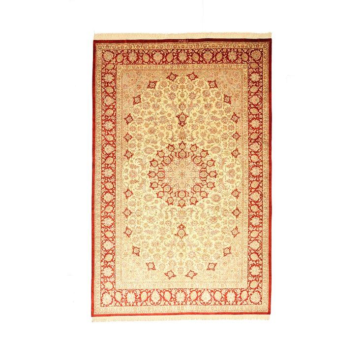 6' 7 x 9' 10 Qom Persian Rug