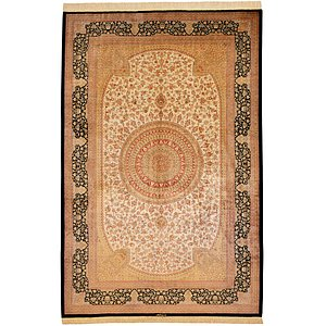 Unique Loom 6' 6 x 9' 11 Qom Persian Rug