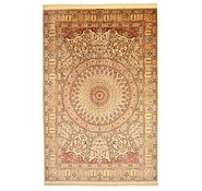 Link to 6' 6 x 9' 10 Qom Persian Rug