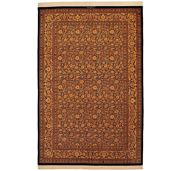 6' 7 x 9' 8 Qom Persian Rug