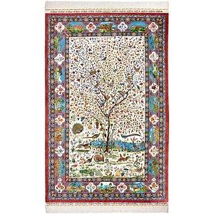 5' 3 x 8' 4 Qom Persian Rug