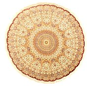 Link to 10' x 10' Qom Persian Round Rug