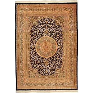 8' 2 x 11' 4 Qom Persian Rug