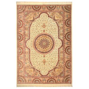 Unique Loom 7' 11 x 11' 5 Qom Persian Rug