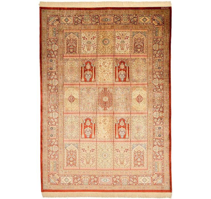 6' 6 x 9' 3 Qom Persian Rug