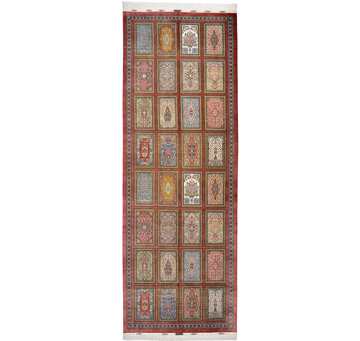 5' x 14' Qom Persian Runner Rug