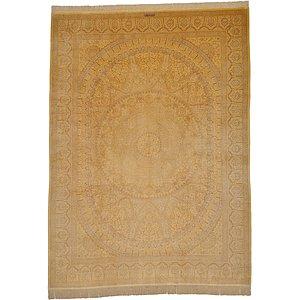 9' 8 x 13' 1 Qom Persian Rug
