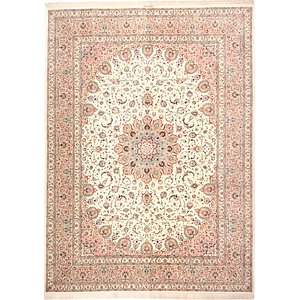 9' 9 x 13' 2 Qom Persian Rug