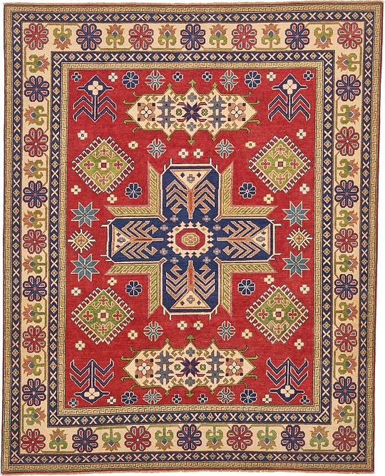 Oriental Rugs Uk: Red 8' X 10' Kazak Oriental Rug