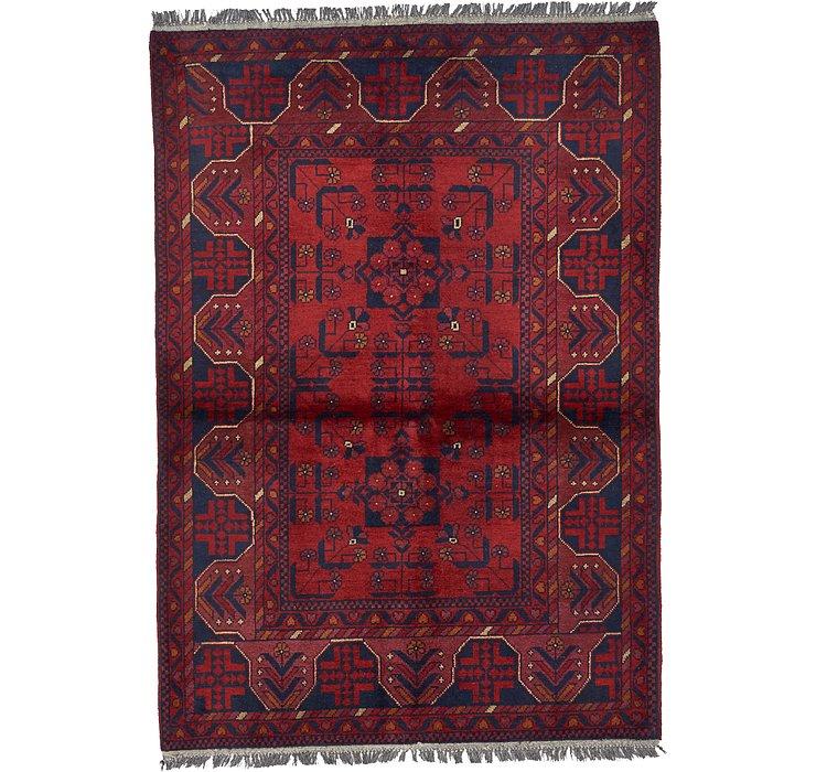 HandKnotted 3' 4 x 4' 10 Khal Mohammadi Oriental...