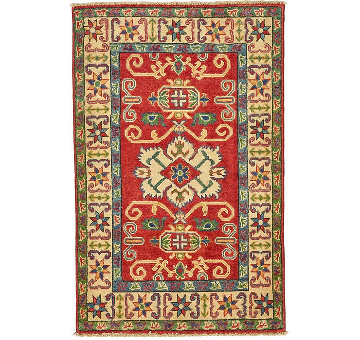 2' 7 x 4' Kazak Oriental Rug