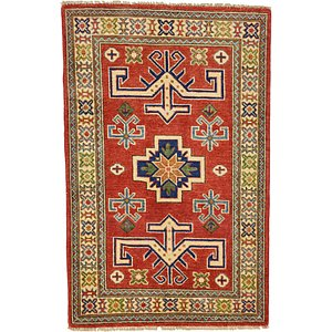 Unique Loom 2' 8 x 4' Kazak Oriental Rug