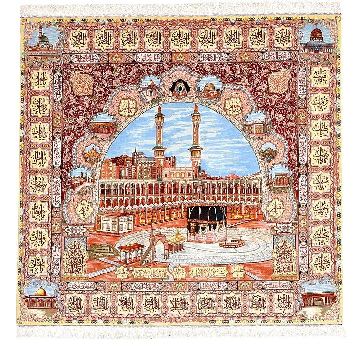 7' 2 x 7' 5 Tabriz Persian Rug