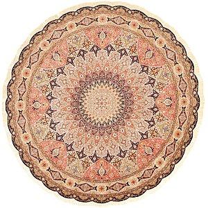 HandKnotted 8' 4 x 8' 4 Tabriz Persian Round Rug
