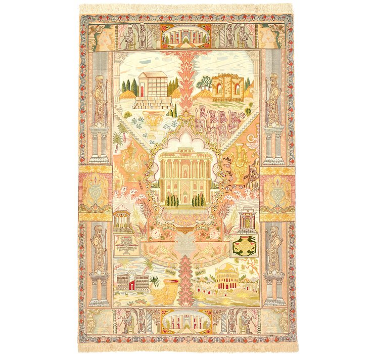 5' 10 x 8' 10 Tabriz Persian Rug