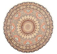 Link to 8' 4 x 8' 4 Tabriz Persian Round Rug
