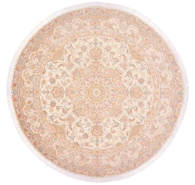 8' 2 x 8' 2 Tabriz Persian Round Rug