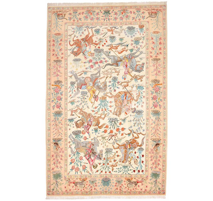 6' x 9' 7 Tabriz Persian Rug